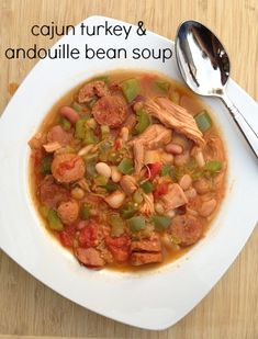 Cajun Turkey Andouille Bean Soup  GIVEAWAY ~ $50 Grocery Store Gift Card from Hurst Beans