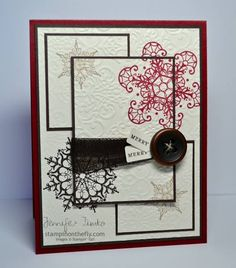 Triple Time Snowflakes by jentimko - Cards and Paper Crafts at Splitcoaststampers - very different!