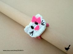Crochet Kitty Ring