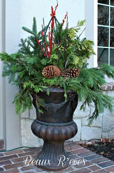 beautifully decorated urn