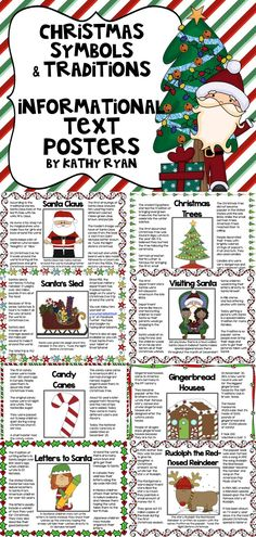 $ This series of 15 informational text posters gives your students a brief overview about the history of Christmas symbols and traditions in American culture. A scavenger hunt is included so you can assess your student's ability to read and comprehend informational text. This is an engaging way to integrate CCSS skills with your holiday celebrations