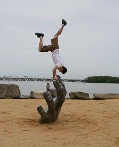 hand, handstand ) #parkour #freerunning #sports