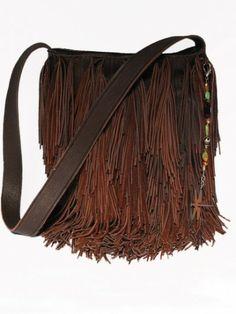 Brown fringe handbag from Rawhide