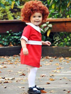 Little Orphan Annie, plus 40 more DIY kid costumes. #halloween