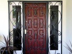 door color, iron screen, front doors, wrought iron, screen doors