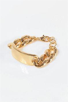 I.D. Name Bracelet - Gold