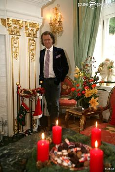 Andre in his castle at Christmas