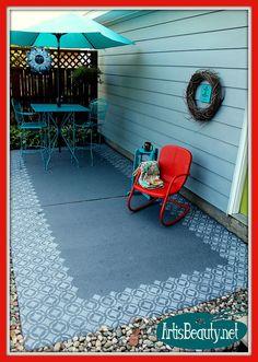 Painted Patio Floor Makeover :: Hometalk