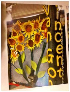 Mrs C's sunflowers brighten up any classroom!! ...and with an educational purpose!