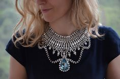 Josephine - ultimate swarovski rhinestones statement necklace - ready to ship