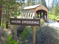 The Hixon Crossing covered bridge in Bend, Oregon's Shevlin Park.  Scouting location for wedding shoot.