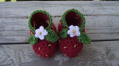 Strawberry Booties Free Pattern, thanks so xox