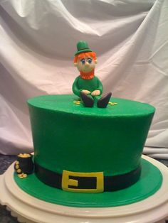 Leprachaun cake for St. Patrick's Day
