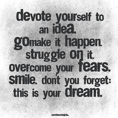 devote yourself.