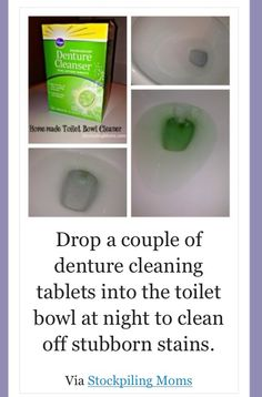 Cleaning toilet stains
