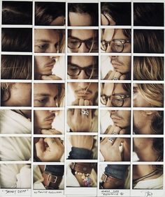 Polaroid Portrait Mosaic by Maurizio Galimberti | Jonny Depp