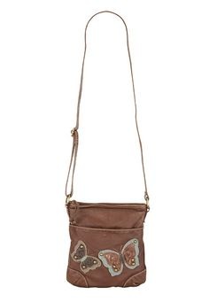 Butterfly Applique Washed Crossbody - maurices.com
