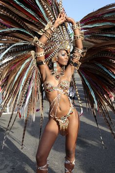 Costumed model pose in the carnival band Harts. Trinidad Carnival 2014 from www.caribbeanphotoart.com