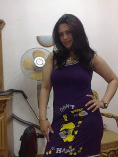 Beautiful Lebanese Lady In Purple Dress