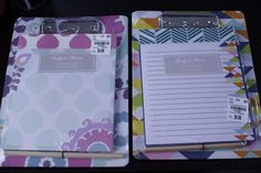 Mini clipboards that are the perfect size for anyone's lap. Great for all kinds of activities!
