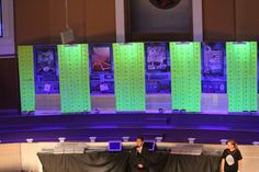 Agency D3 stage -We had a secret agent bring in our offering totals every day.  One day his silver case came down from the rafters. silver case, secret agent, d3 vbs, d3 stage, vbs 2014, agenc d3, offer total