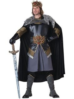 Adult Medieval King Costume Deluxe