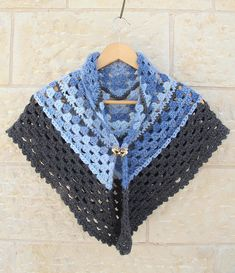 Crocheted Granny Triangular Shawl.....Super Simple!