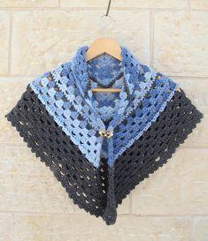 Crocheted Granny Triangular Shawl.....Super Simple!