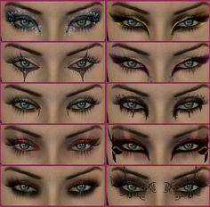 Scene Cat Eye Makeup | fantasy eye makeup Eyes: Different Eye Makeup Styles