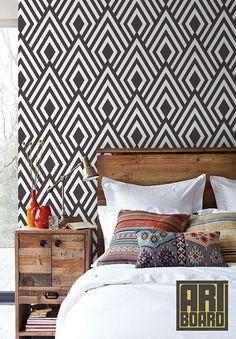 diamond pattern self adhesive DIY wallpaper home by ArtBoard.