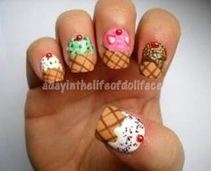 cupcakes, cupcak nail, icecream nails, front doors, beauti