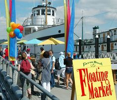 FarmBoat Floating Market on the Virginia V at Lake Union Park in Seattle    It's still alive and we went to camp in 1951 and 2..I got home sick and had to go home..Janis was tough and made it all the way without tears