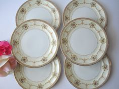 Vintage Meito China Vivian Pink Gold Floral by thechinagirl