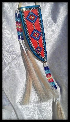 Beaded Knife Sheath www.shawneedesignz.com