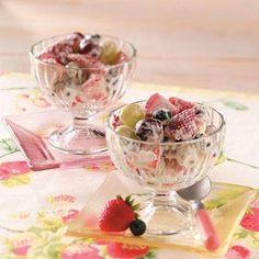 summertim strawberri, salad recipes, fruit salads, marshmallow cream, desserts strawberries salad, healthi food, summertime, cream chees, strawberri salad