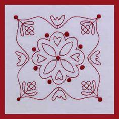 stitched block redwork, quilt blocks, stitch quilt