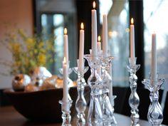 HGTV Dream Home 2011 Clear Glass Candlesticks
