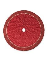 Crimson Harvest Christmas Tree Skirt - Christmas Ornaments and Decorations For Your Artificial Christmas Tree - Balsam Hill