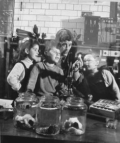 Miriam Rothschild with her children