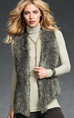 Love My Shaggy Vest! CAbi '12 Fall Collection!