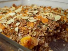 Healthy & Delicious: Baked Wheat Bulgur with Sweet Potatoes and Almonds