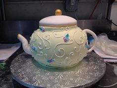 ... tea pot cake, designed by Sam Lucero, Amphora Bakery, Herndon VA