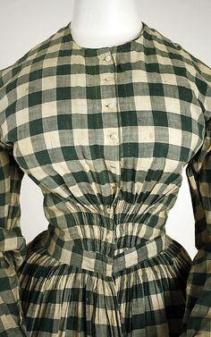 1840-45 Dress - cotton check