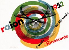 By Max Huber, 5/1 9 5 5, Advertising poster for Italian department store, la Rinascente. (From Gebruachsgraphik)