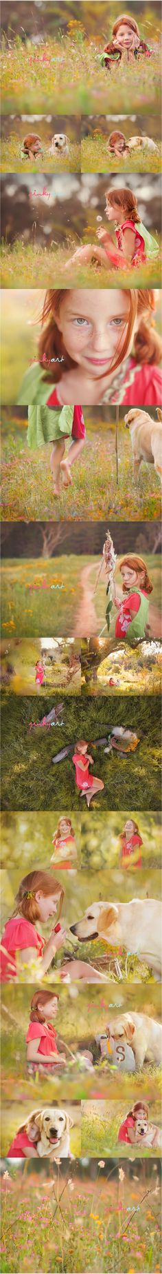 Red head cutie, dog & nature... love this big time.