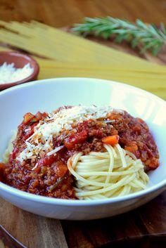 Frugal Spaghetti Bolognese