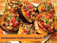 Southwestern Stuffed Acorn Squash - Fitness & Feta