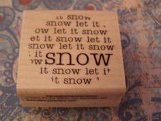 Snow+wood+mounted+Penny+Black+Rubber+Stamp+by+nahanibluette,+$4.75