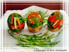 Wielkanocne jajka galaretki