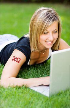 temporary tattoos for sororities + fraternities #greeklife  #custom #temporarytattoos